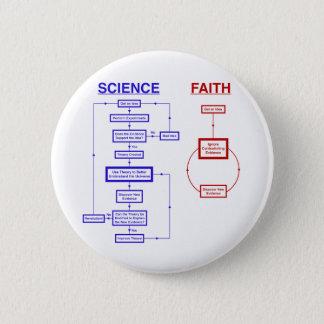 Science vs Faith 6 Cm Round Badge