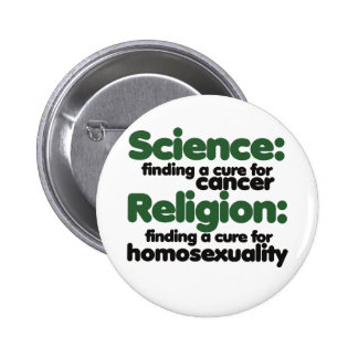 Science VS Religion 6 Cm Round Badge