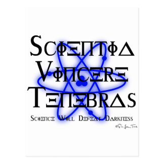 Science Will Defeat Darkness (blue) Post Cards