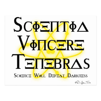 Science Will Defeat Darkness (yellow) Postcard