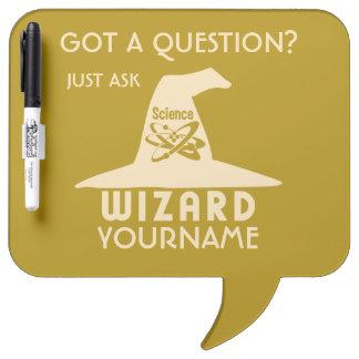 Science Wizard custom color message board