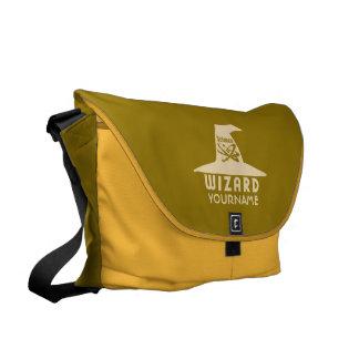 Science Wizard custom messenger bag
