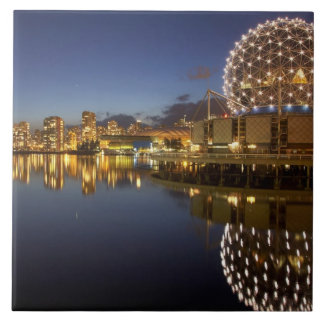 Science World and CBD reflected in False Creek, Tile