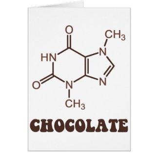 Scientific Chocolate Element Theobromine Molecule Greeting Card
