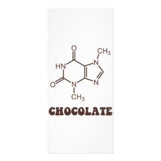 Scientific Chocolate Element Theobromine Molecule Full Color Rack Card