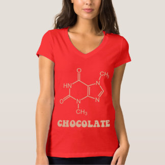 Scientific Chocolate Element Theobromine Molecule T-Shirt