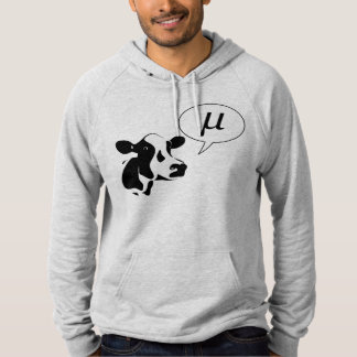 Scientific Cow Goes Mu Hooded Pullovers