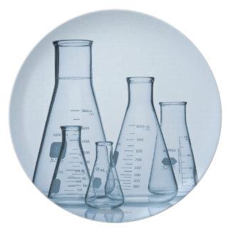 Scientific glassware blue plate