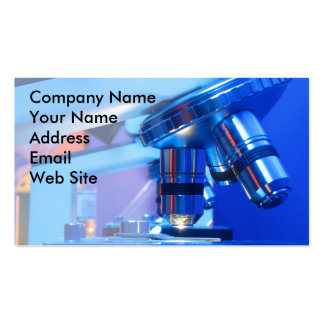 Scientific Microscope Double-Sided Standard Business Cards (Pack Of 100)