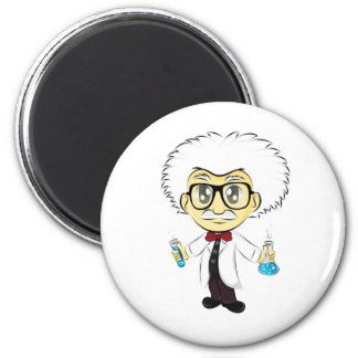 Scientist 6 Cm Round Magnet