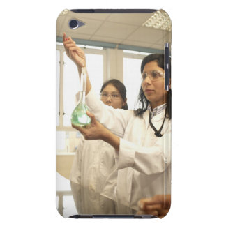 Scientist adding solution to beaker iPod Case-Mate cases