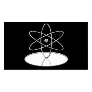Scientist Atom Reflection Metallic Business Cards