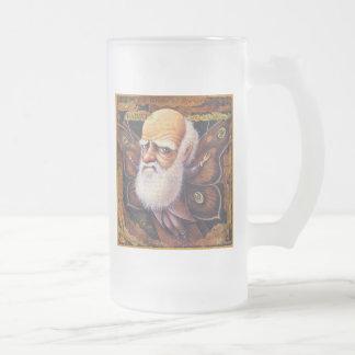 Scientist Beer Mug: Specimen: Darwin Frosted Glass Beer Mug