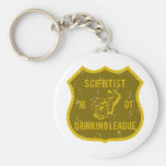Scientist Drinking League Basic Round Button Key Ring