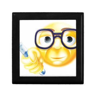 Scientist Emoji Emoticon Small Square Gift Box