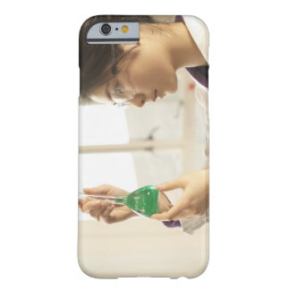 Scientist examining liquid in beaker barely there iPhone 6 case