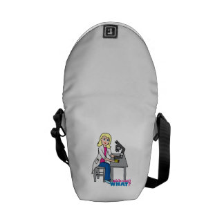 Scientist Girl - Light Blonde Courier Bags