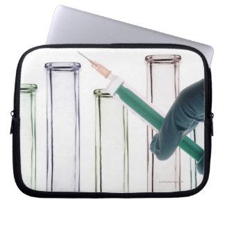 Scientist Holding Syringe Laptop Sleeve
