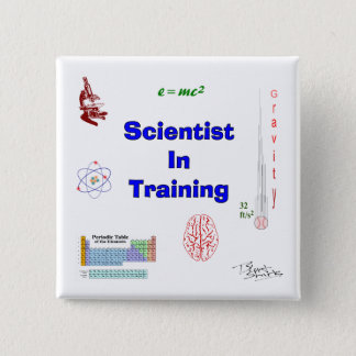 Scientist in Training 15 Cm Square Badge