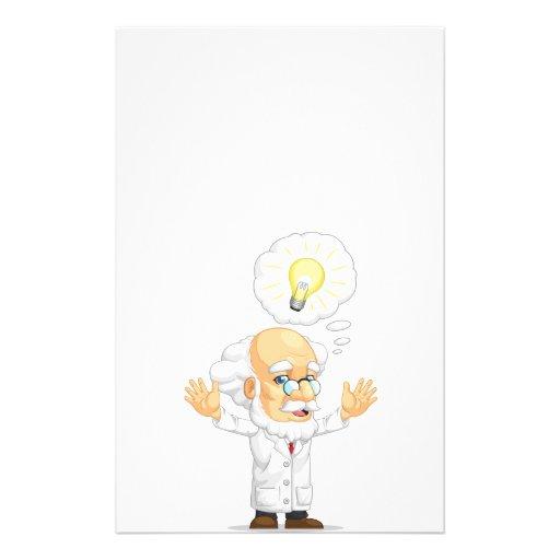 Scientist or Professor Having an Idea Full Color Flyer