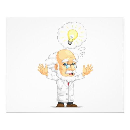 Scientist or Professor Having an Idea Flyers
