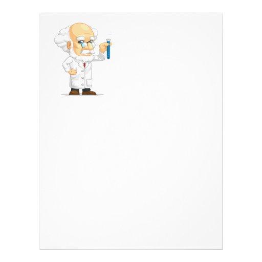 Scientist or Professor Holding Laboratorium Chemic Full Color Flyer