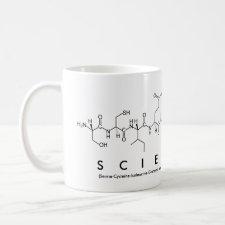 Scientist peptide mug