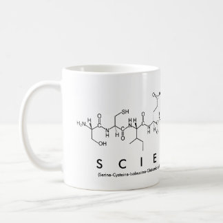 Scientist peptide word mug
