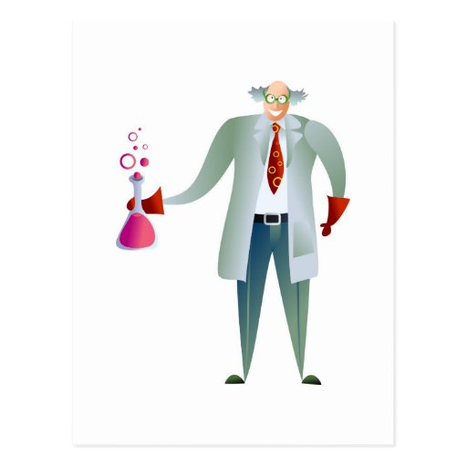 Scientist Post Card