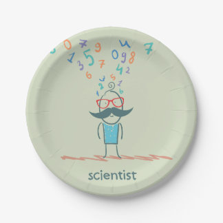 Scientist Thinking Paper Plates