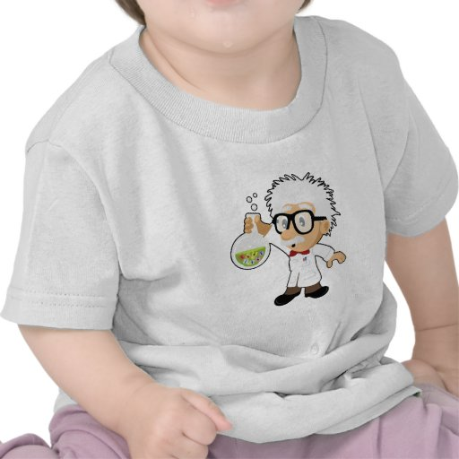 Scientist with beaker tee shirts