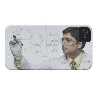 Scientist writing chemical formula iPhone 4 Case-Mate cases
