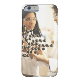 Scientists examining molecular model barely there iPhone 6 case