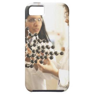 Scientists examining molecular model iPhone 5 cases