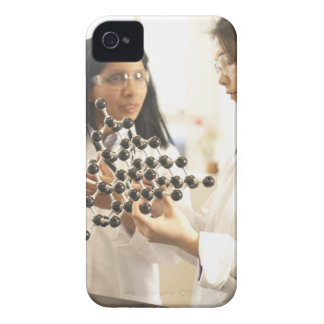 Scientists examining molecular model Case-Mate iPhone 4 cases