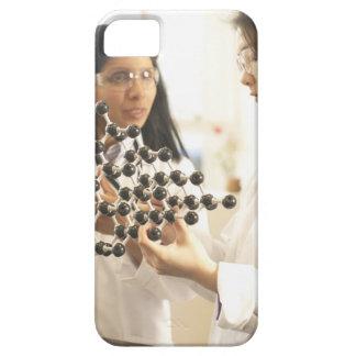 Scientists examining molecular model iPhone 5 case