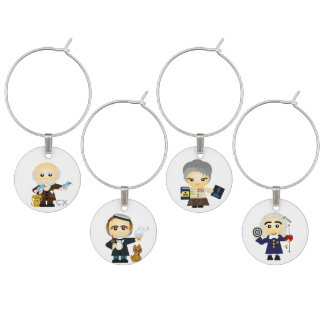 Scientists I Wine Charms
