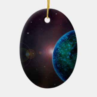 scifi-624251 ALIEN SPACE PLANETS BACKGROUNDS WALLP Christmas Tree Ornaments