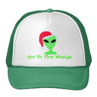 SciFi Geek Alien Santa LGM Christmas Fun Hat Cap