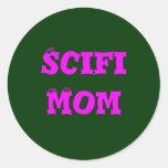 Scifi Mum Round Sticker