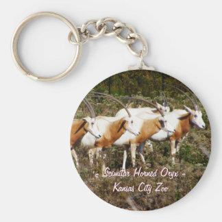 Scimitar Horned Oryx Keychain
