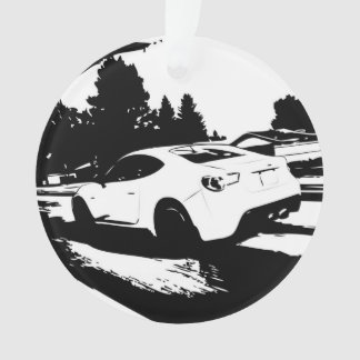 Scion FR-S Rolling Shot - Add your message Ornament