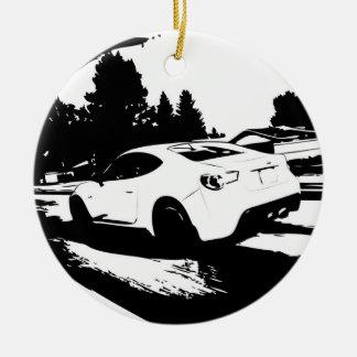 Scion FR-S Rolling Shot Christmas Ornament