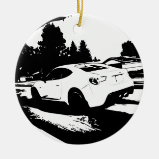 Scion FR-S Rolling Shot Double-Sided Ceramic Round Christmas Ornament