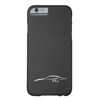 Scion FR-S white brushstroke on Faux CarboN Fiber iPhone 6 Case