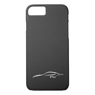 Scion FR-S white brushstroke on Faux CarboN Fiber iPhone 7 Case