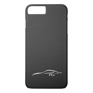 Scion FR-S white brushstroke on Faux Carbon Fiber iPhone 7 Plus Case