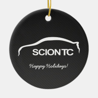 Scion TC White Silhouette w/ Faux Carbon Ornament
