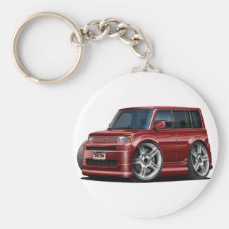 Scion XB Maroon Car Basic Round Button Key Ring