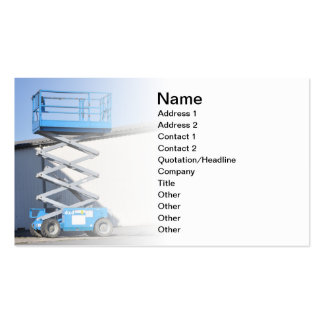 scissor lift or platform business card template